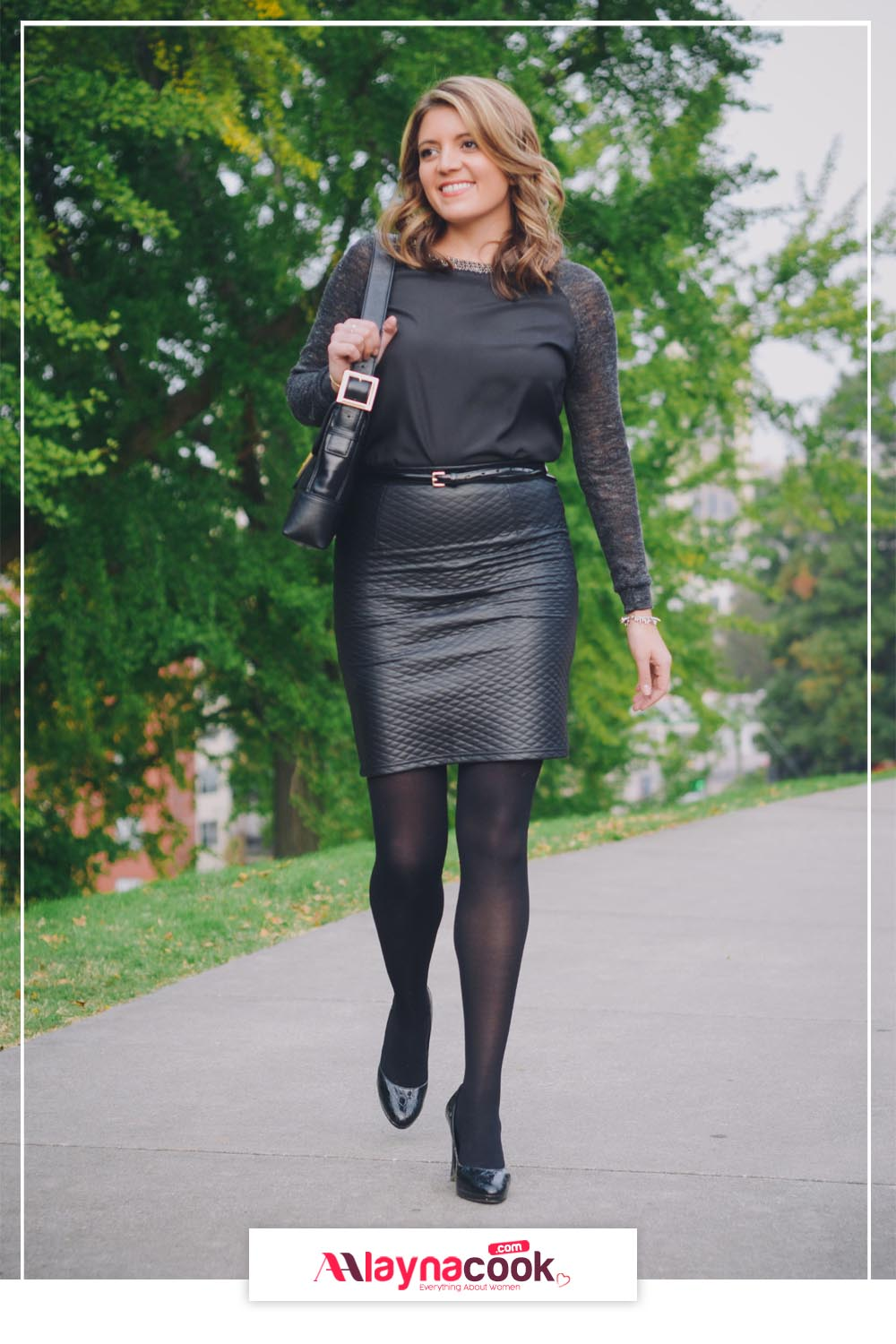 Gorgeous Leather Skirt Outfits
